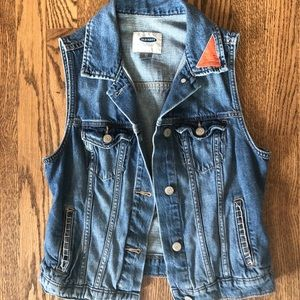 CUSTOMIZED Hand Embroidered Old Navy Denim Vest